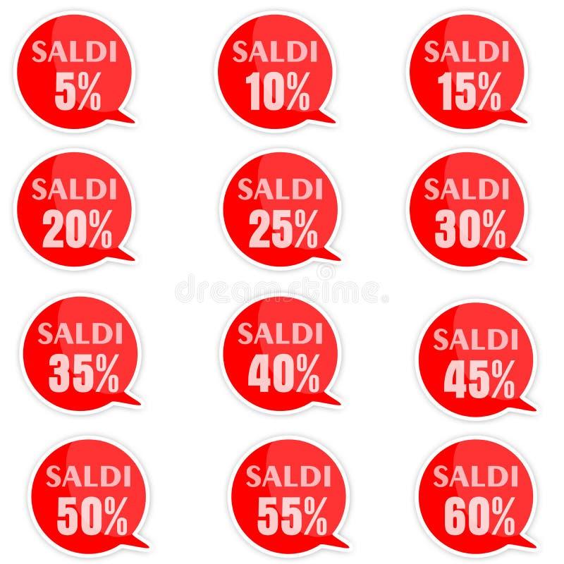Etichette di prezzo di sconto fotografia stock libera da diritti
