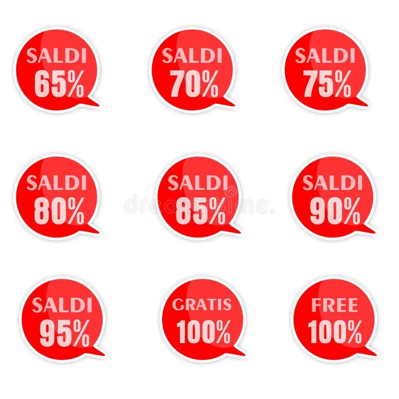 Etichette di prezzo di sconto immagini stock
