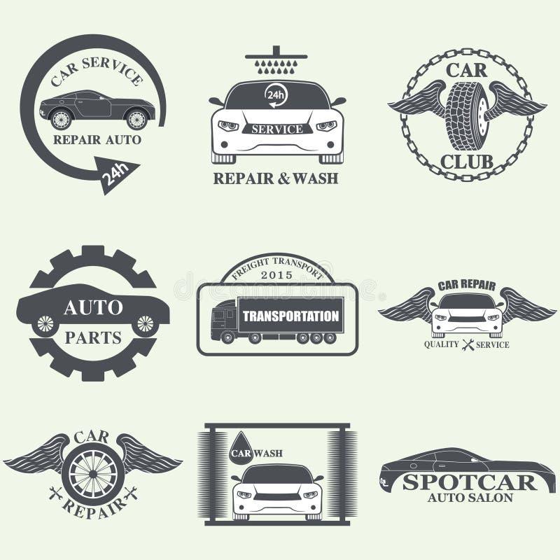 Etichette di servizio dell'automobile fotografia stock