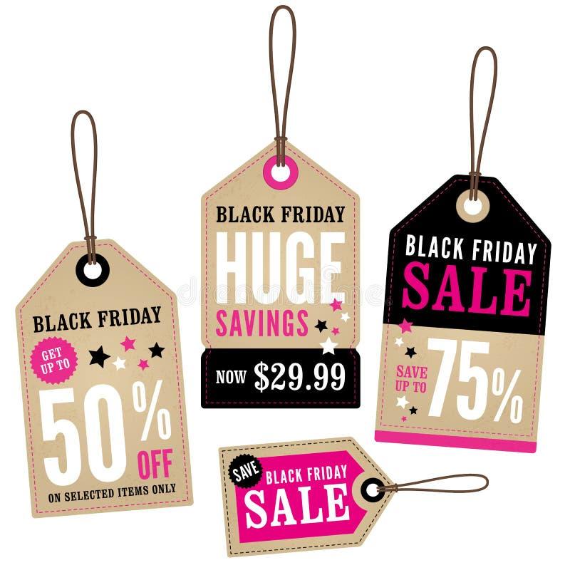 Etichette di vendita al dettaglio di Black Friday royalty illustrazione gratis