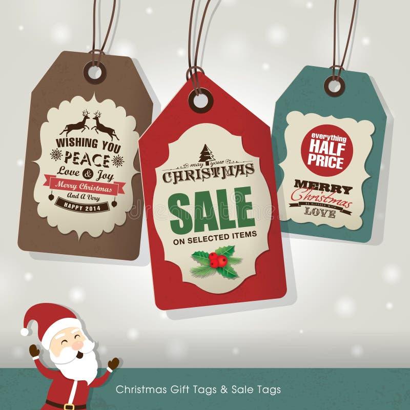 Etichette di vendita di Natale royalty illustrazione gratis