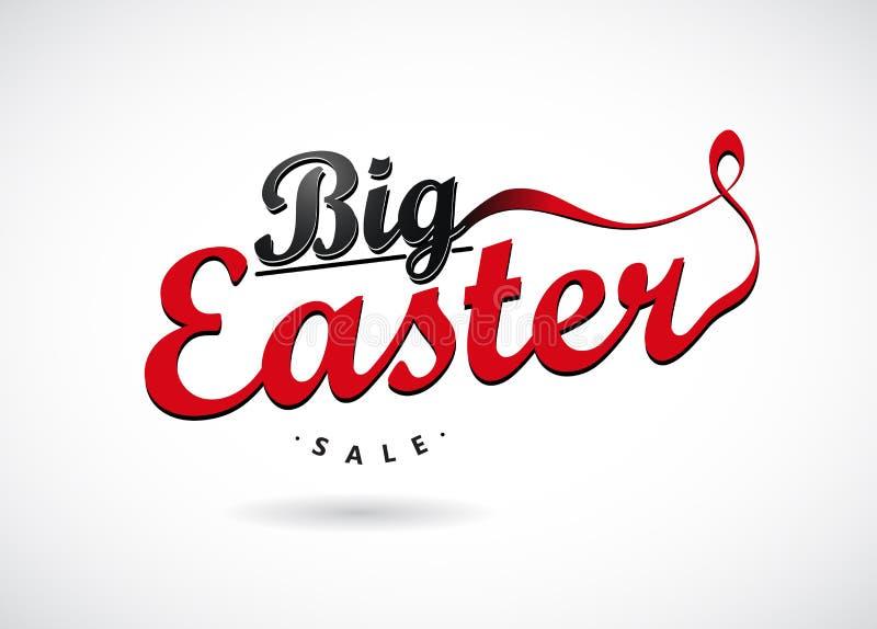 Etichette di vendita di Pasqua con i nastri royalty illustrazione gratis