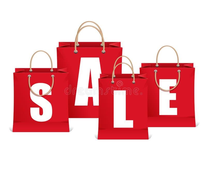 Etichette di vendita di vettore come il sacchetto della spesa royalty illustrazione gratis