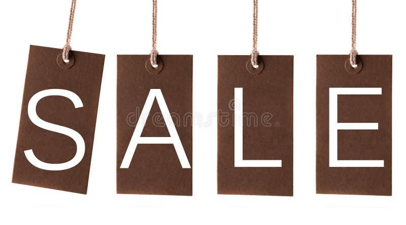 Etichette di vendita su fondo bianco fotografia stock libera da diritti
