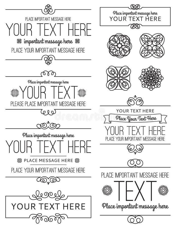 Etichette ed elementi di progettazione royalty illustrazione gratis