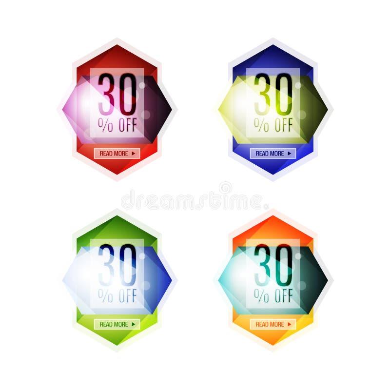 Etichette geometriche astratte di vendita di vettore illustrazione vettoriale