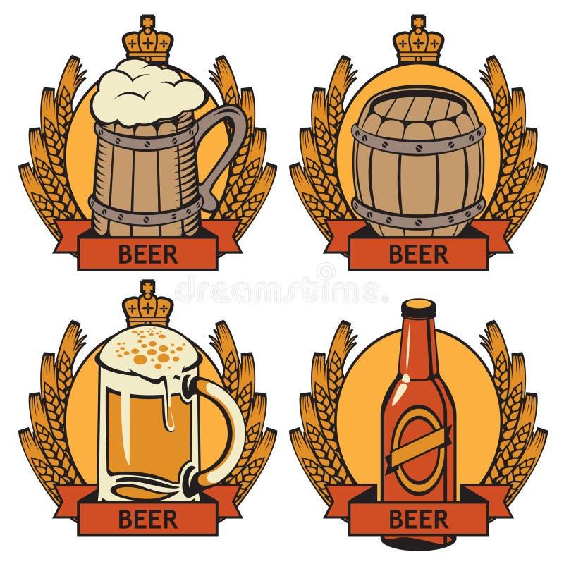 Molto Etichette per birra illustrazione vettoriale. Illustrazione di  CW68
