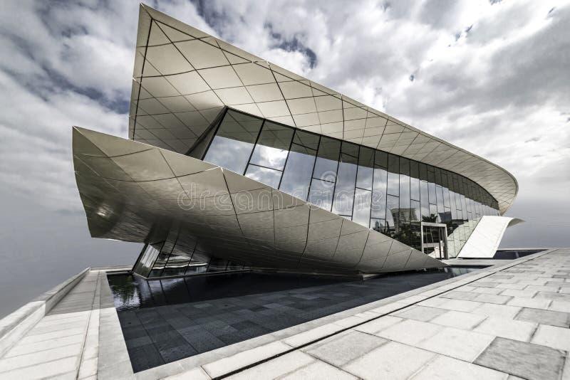 Etihad博物馆,迪拜,阿拉伯联合酋长国, 1月 2018年 免版税库存照片