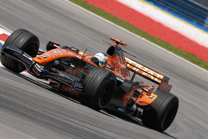 Etihad Aldar Spyker F1 Team F8 lizenzfreies stockbild