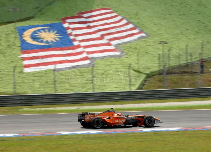 Etihad Aldar Spyker F1 Team F8-VII Christijan Albe stock photography