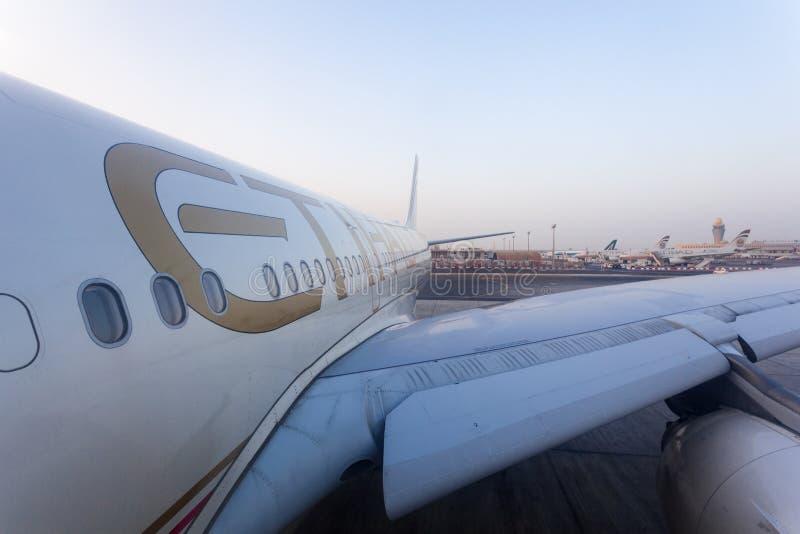 Etihad linii lotniczych samolot fotografia royalty free