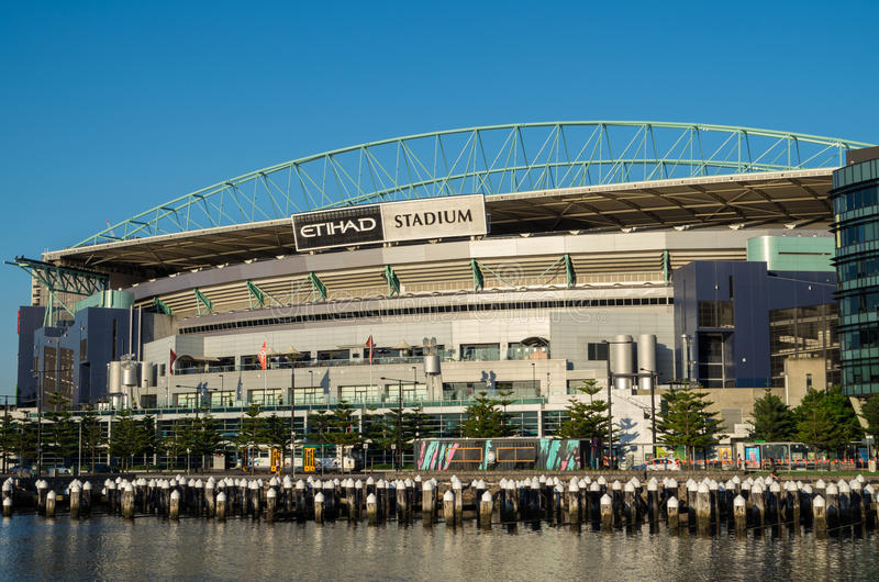Etihad-Stadion in Melbourne-Docklands stockfoto