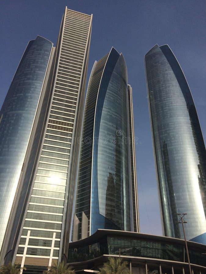 Etihad torn, Abu Dhabi fotografering för bildbyråer