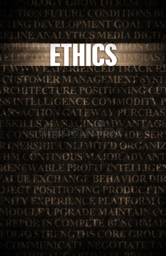 etik royaltyfri illustrationer