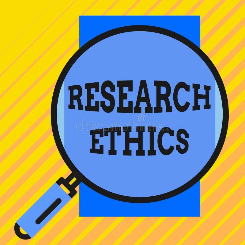 Etik f?r forskning f?r handskrifttexthandstil Begreppsbetydelse som intresseras i analysofethicalissuesna som lyftte rundan vektor illustrationer