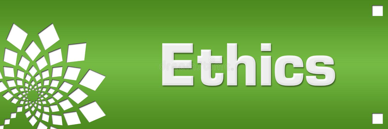 Etik gör grön blom- vänstersida stock illustrationer