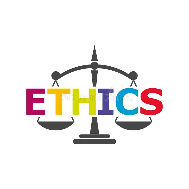 Etik uttrycker, etik smsar, etiksymbolen eller logoen royaltyfri illustrationer