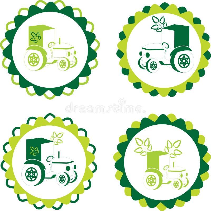 Etiket of embleem met biologisch product stock illustratie