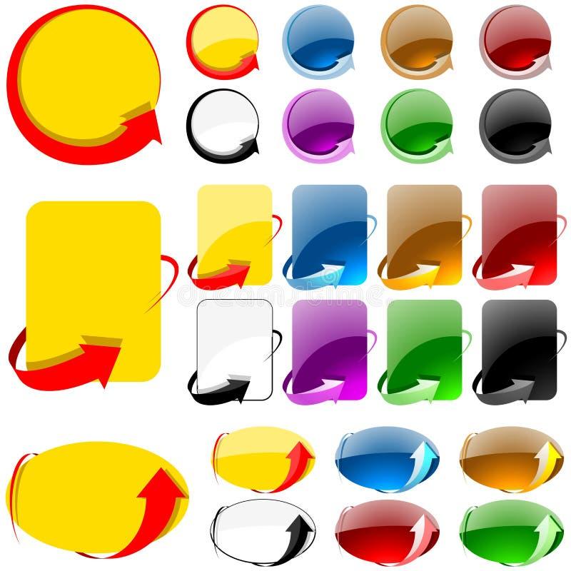 Etiket met Pijl vector illustratie