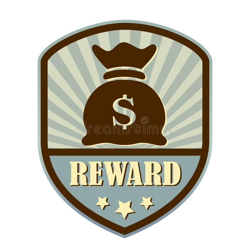 Etiket van het belonings retro schild stock illustratie