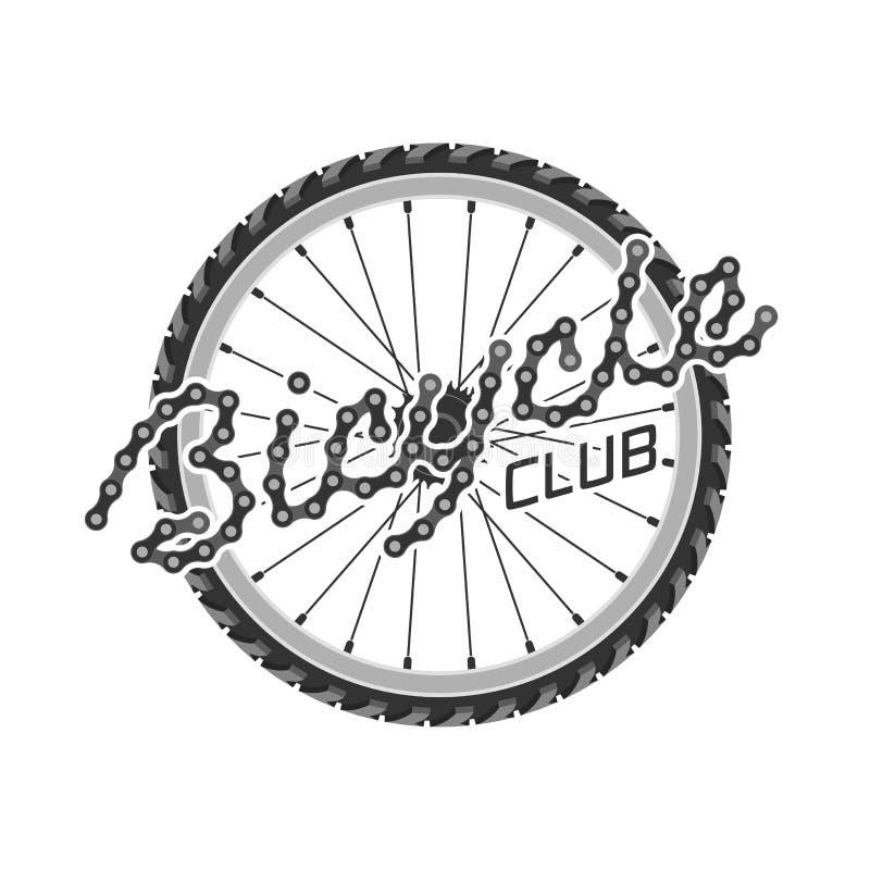 Etiket van het fiets het vectormalplaatje, embleem royalty-vrije illustratie