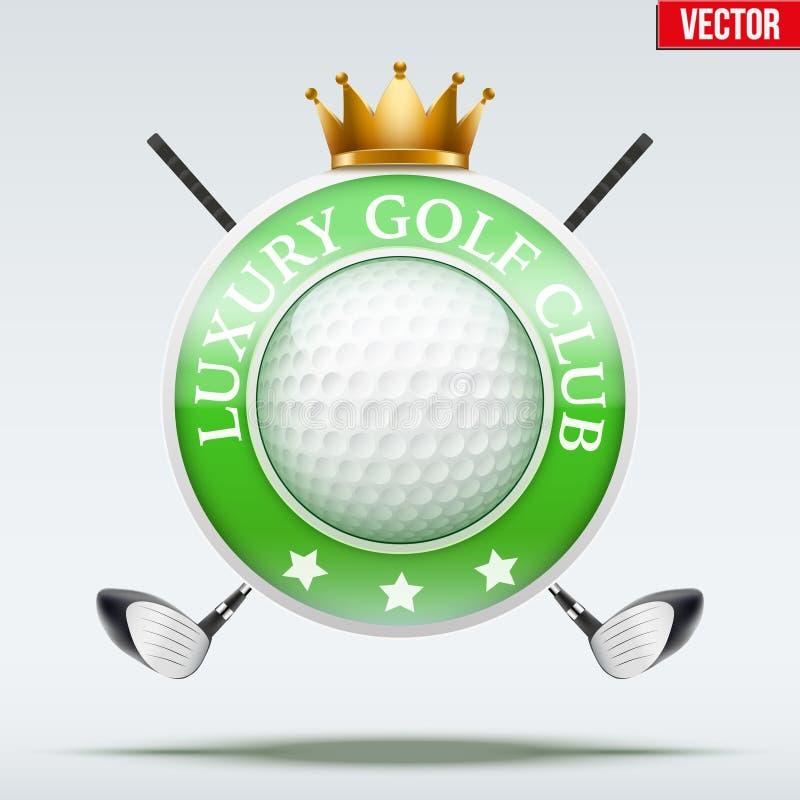Etiket van Luxegolfclubs stock illustratie