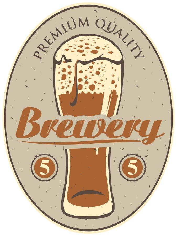 Etiket voor de brouwerij stock illustratie