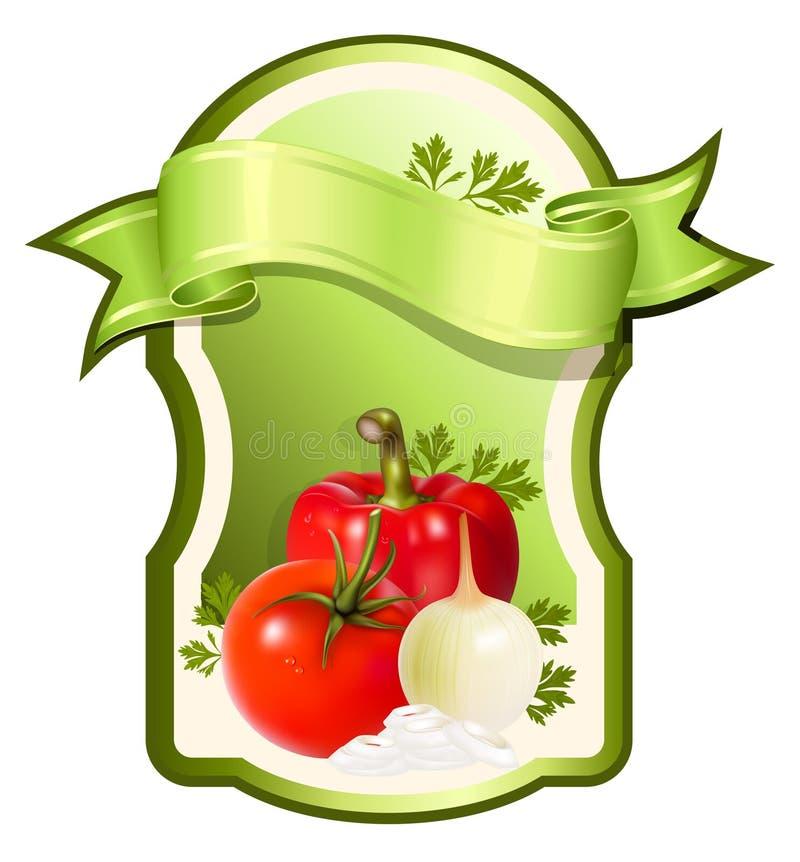 Etiket voor een product. Groenten. royalty-vrije illustratie