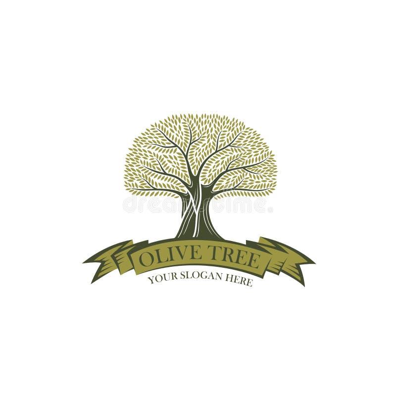 Etiket voor olijfolie stock illustratie