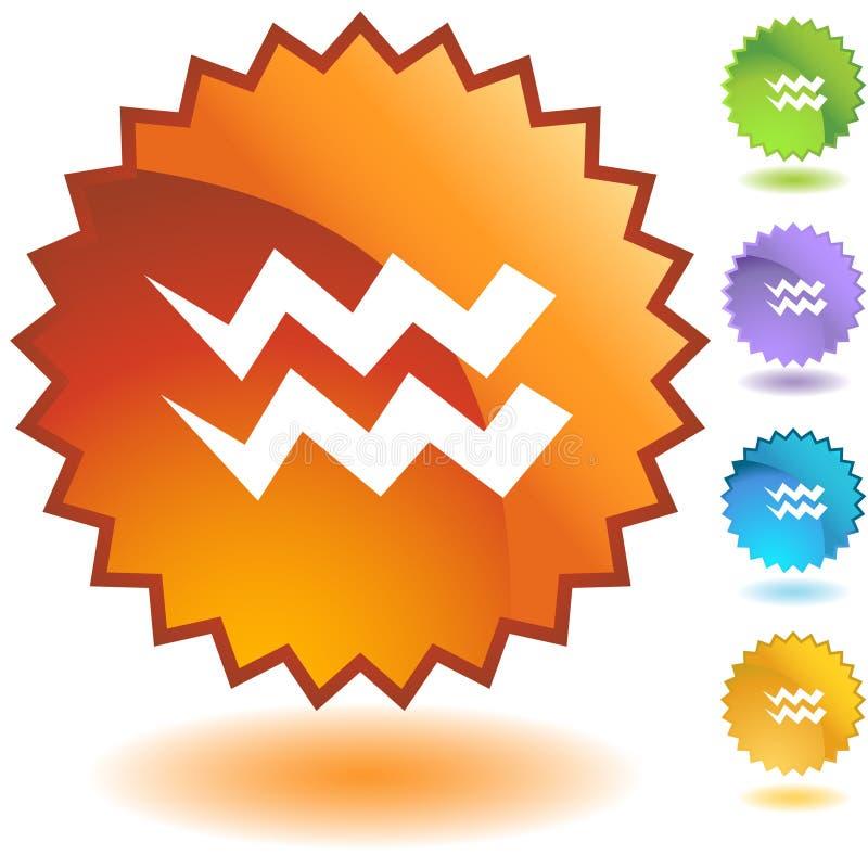 Etiket - Waterman stock illustratie