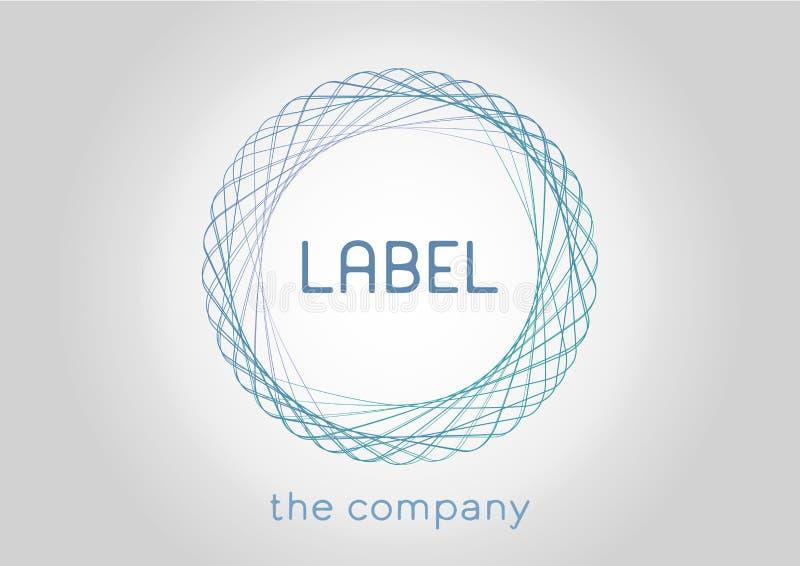 Etiketpictogram voor het bedrijf of de organisatie Vector illustratie royalty-vrije illustratie