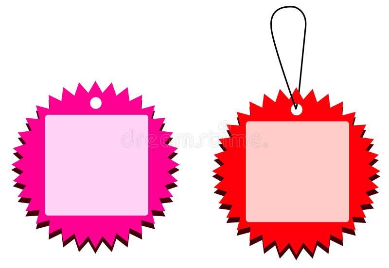etikett 8 vektor illustrationer