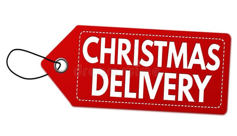 Etikett eller prislapp för special leverans för jul stock illustrationer