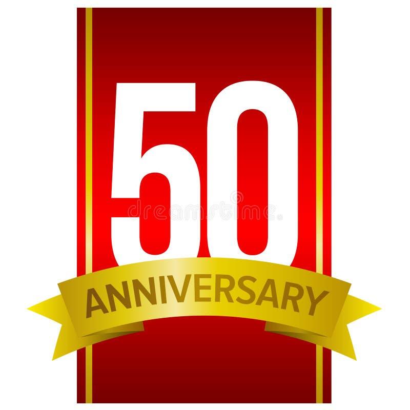etikett för 50 årsdag vektor illustrationer