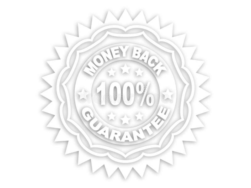 etikett för 100 guarantee royaltyfri illustrationer