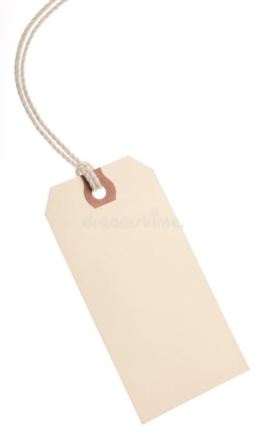 etikett för blankt papper royaltyfria bilder