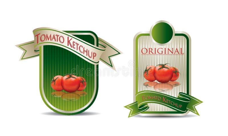 Etikett för en produkt royaltyfri illustrationer