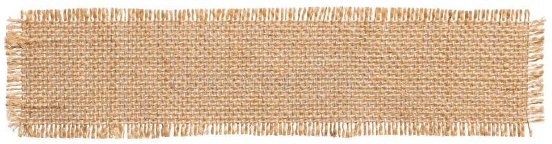 Etikett för säckvävtyglapp, säckvävstycke, jute för linne för säcktorkduk royaltyfri bild