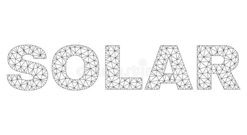 Etikett f?r text f?r Polygonal tr?dram SOL- stock illustrationer