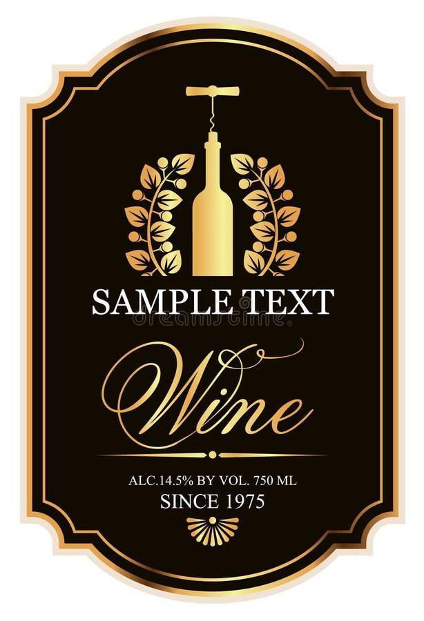 Etikett för vin vektor illustrationer