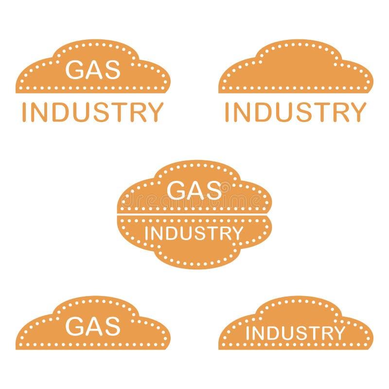 Etikett klistermärkear, logoer av gasbranschen vektor illustrationer