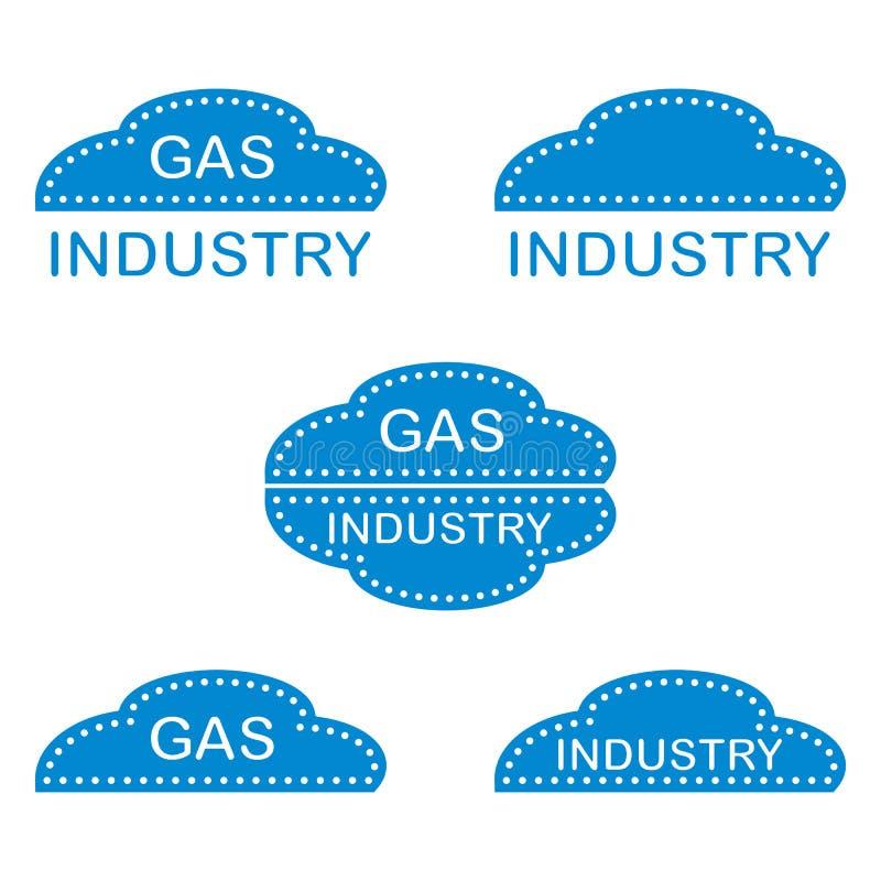 Etikett klistermärkear, logoer av gasbranschen royaltyfri illustrationer