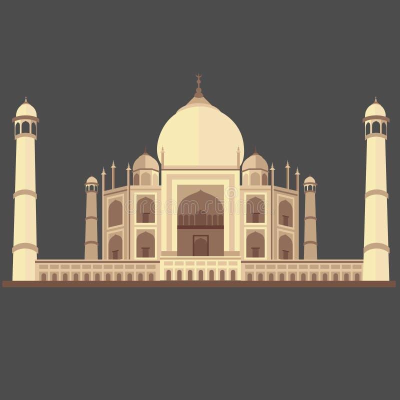 Etikett Mahal, Taj Mahal royaltyfri illustrationer