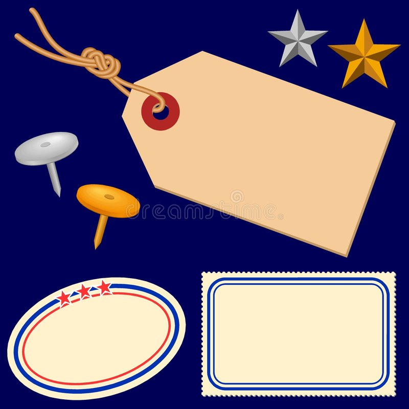 Etiketten 1 vector illustratie