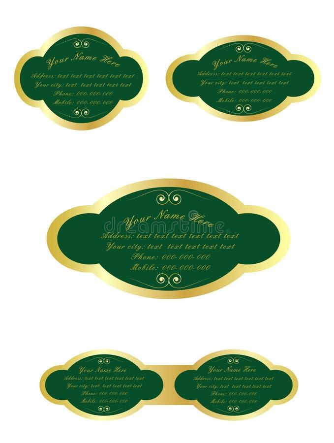 Etiketten royalty-vrije illustratie
