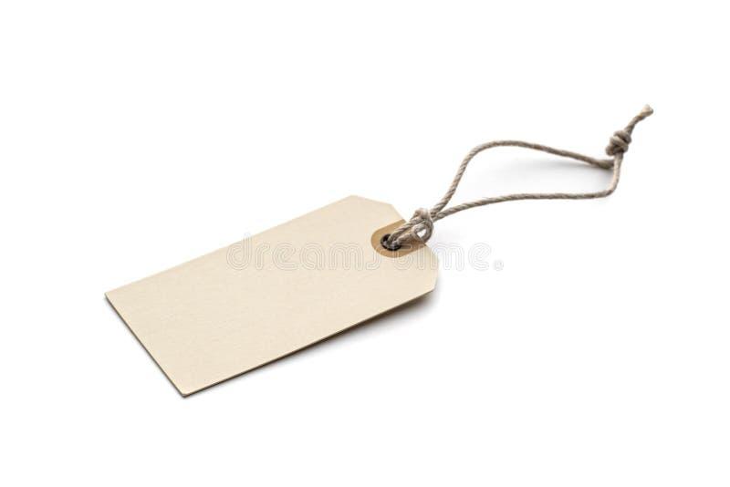 etiketten för rad för försäljningen för priset för etiketten för gåvan för brown etc arkivfoton