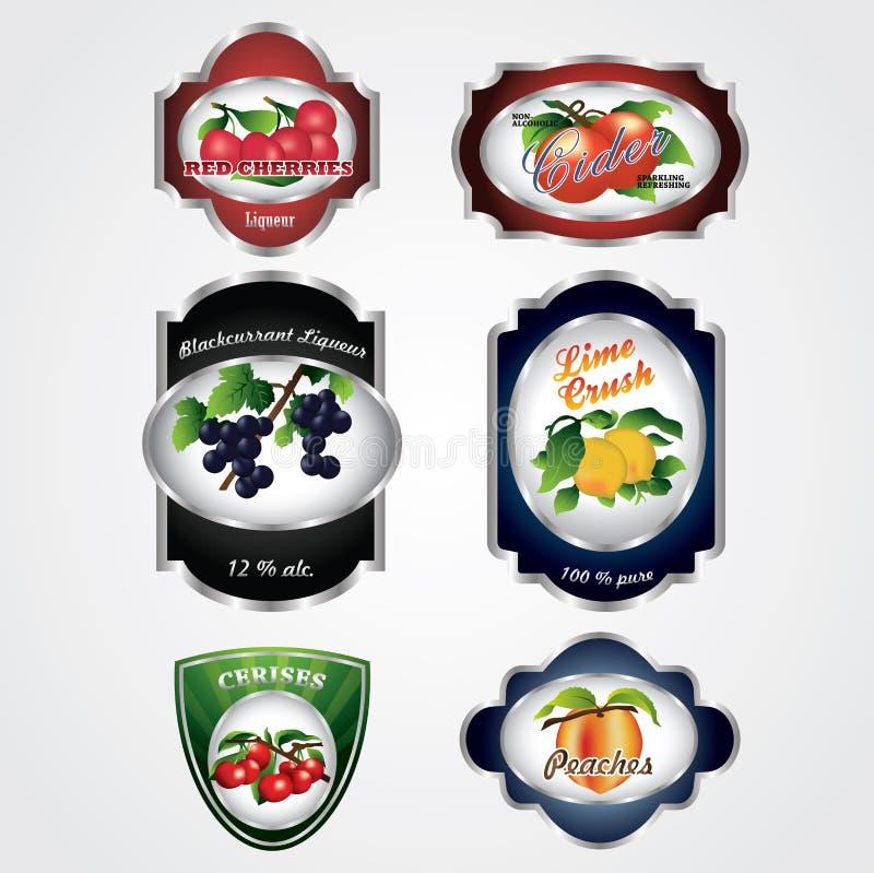 Etiketten van het Fruit van de premie de Uitstekende royalty-vrije illustratie