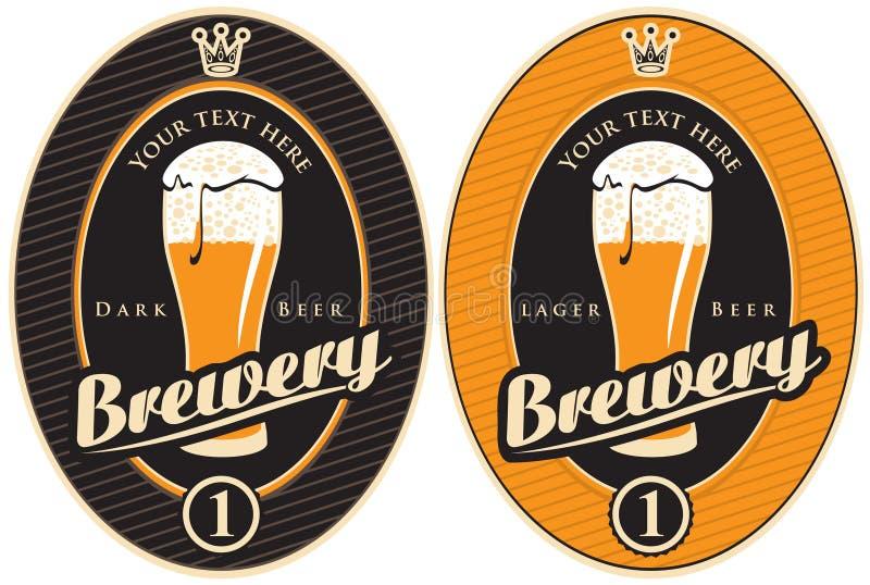 Etiketten voor brouwerij stock illustratie