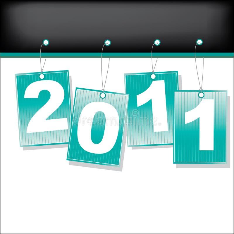 Etiketten voor het jaar van 2011. Vector illustratie