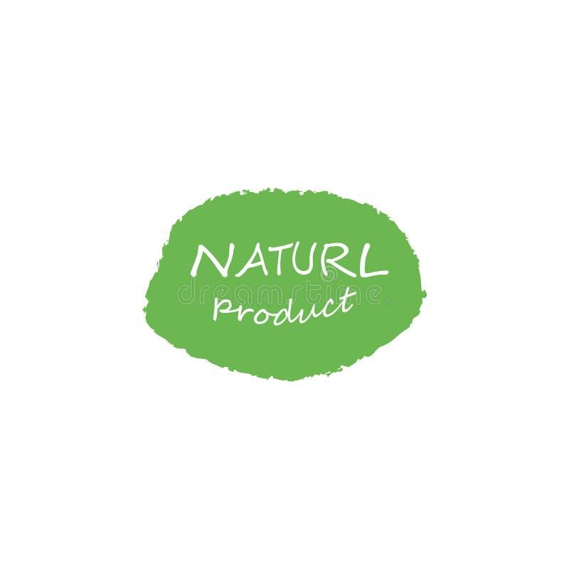 Etiketten voor natuurlijke productie vector illustratie
